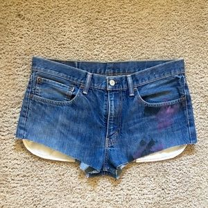 Short shorts from Levi's 511s W32